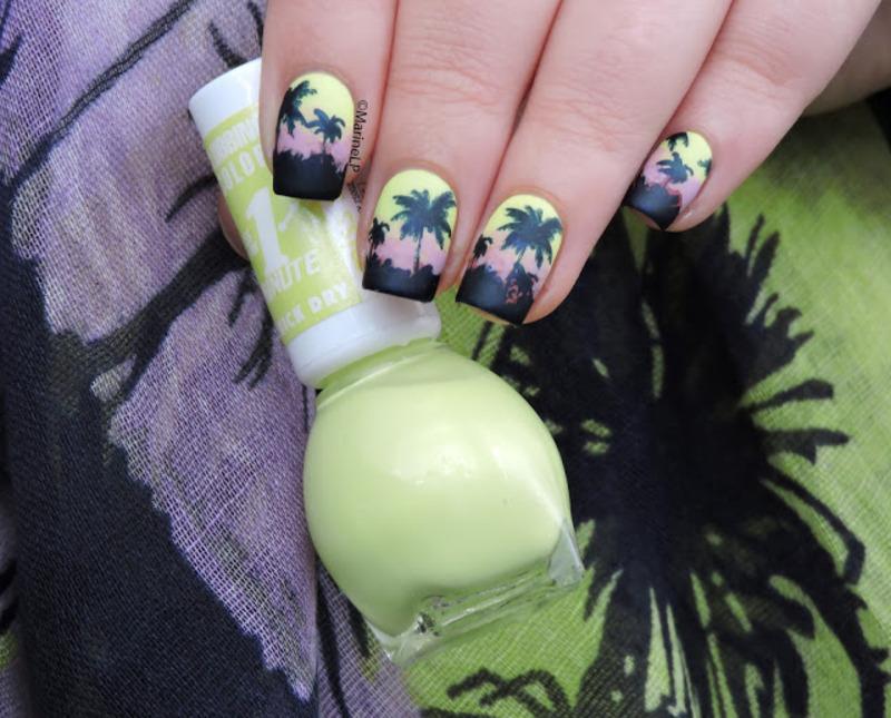 Tropical nails nail art by Marine Loves Polish