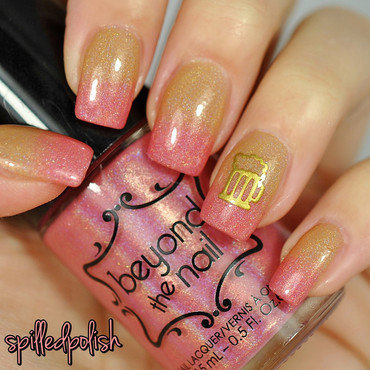 Girly Beer Nails nail art by Maddy S
