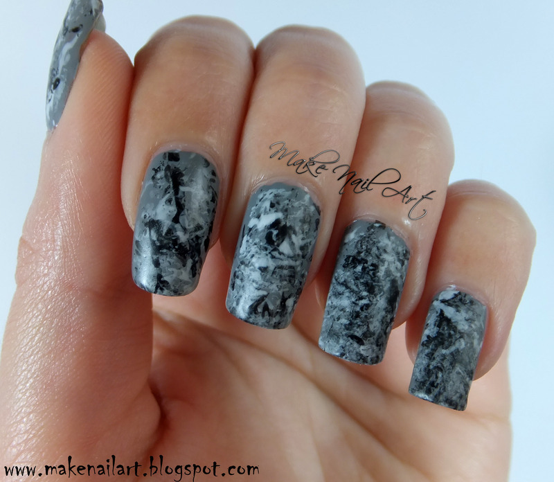 Stone Marble Nails nail art by Make Nail Art