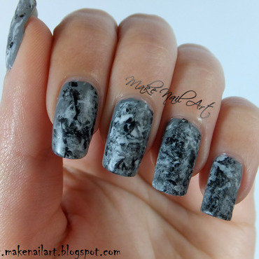 Stone 20marble 20black 20white 20and 20grey 20nail 20art 20design thumb370f