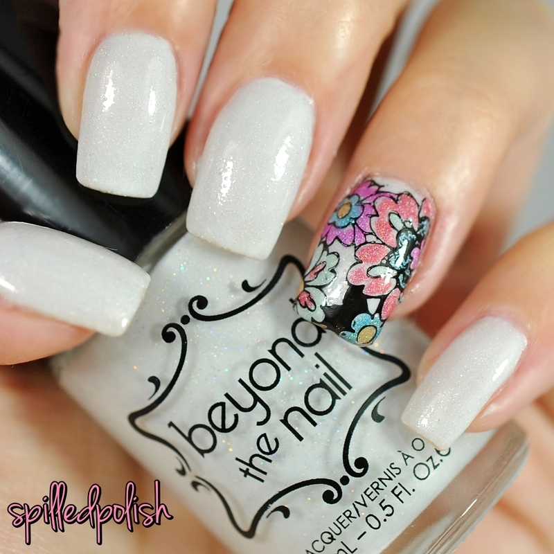 Floral Advanced Stamping nail art by Maddy S