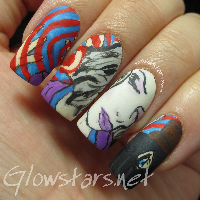 The Digit-al Dozen does fandom: iZombie nail art by Vic 'Glowstars' Pires