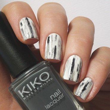 Monki Inspired Dry Brush Closeup nail art by nagelfuchs