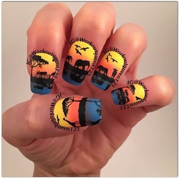 Safari nail art by Workoutqueen123