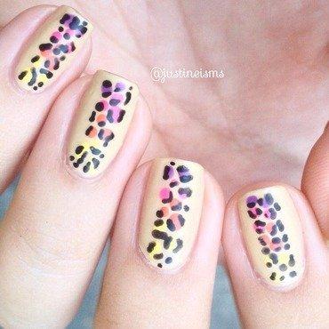Rainbow Leopard nail art by ℐustine