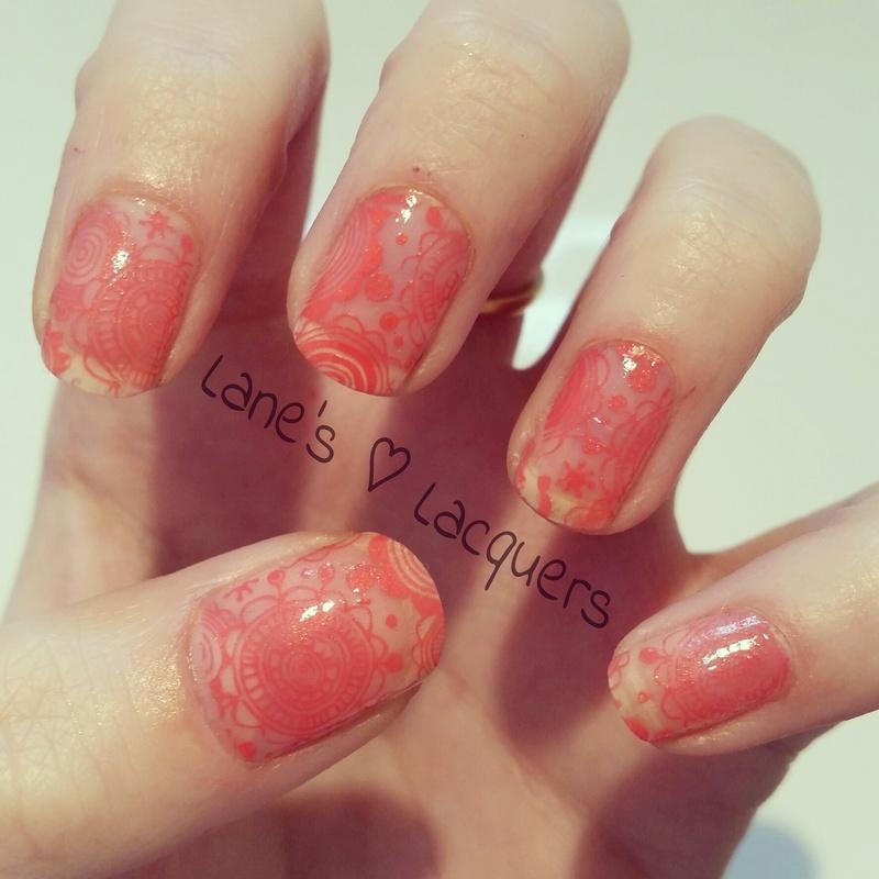 Henna Inspired nail art by Rebecca
