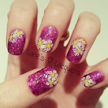 Anemone Gardens nail art by Rebecca