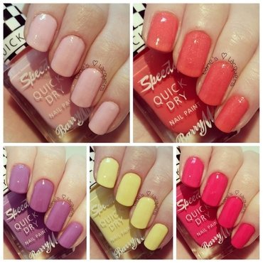 Barry m summer speedy quick dry swatch nails thumb370f