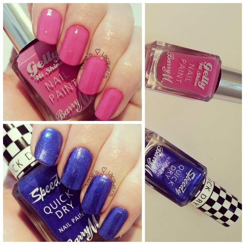 Barry M Sugar Plum and Barry M Supersonic Swatch by Rebecca