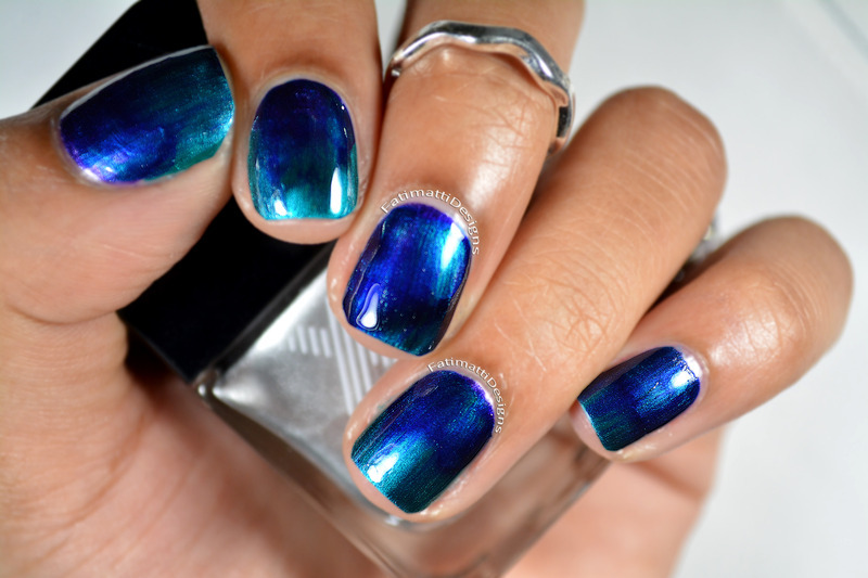 Under The Sea Electric Ombre nail art by Fatimah