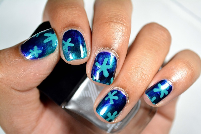 Under The Sea Flowers nail art by Fatimah
