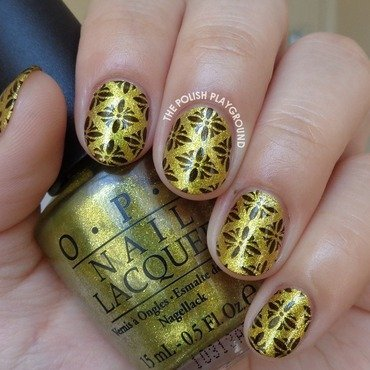 Yellow 20green 20foil 20with 20black 20pattern 20stamping 20nail 20art thumb370f