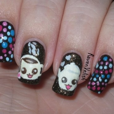 Cute-tea nail art by Lynni V.