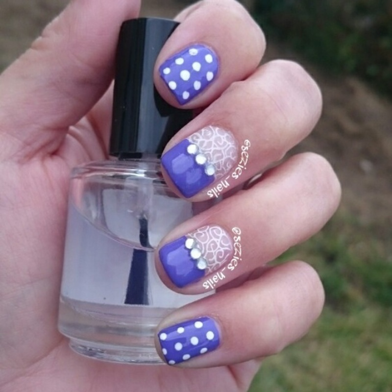 Purple lace  nail art by Sarah Bellwood
