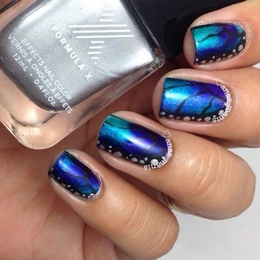 Butterfly wing nails nail art by anas_manis