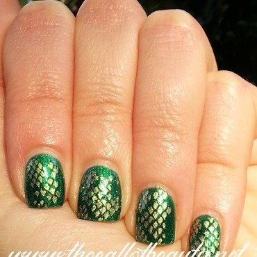 Snake Skin Mani nail art by The Call of Beauty