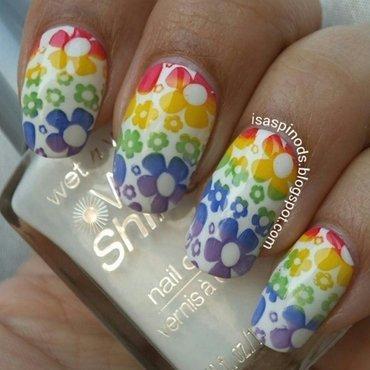 #Reto31Dias2015 Día 9 - Arcoíris nail art by Isabel