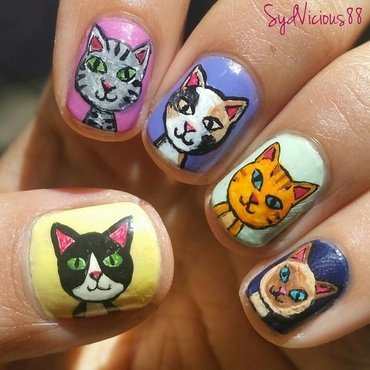 Crazy Cat Lady nail art by SydVicious