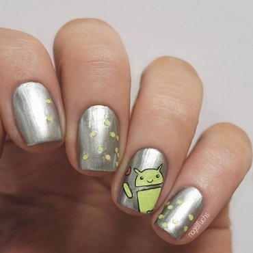 Android Nailart nail art by nagelfuchs