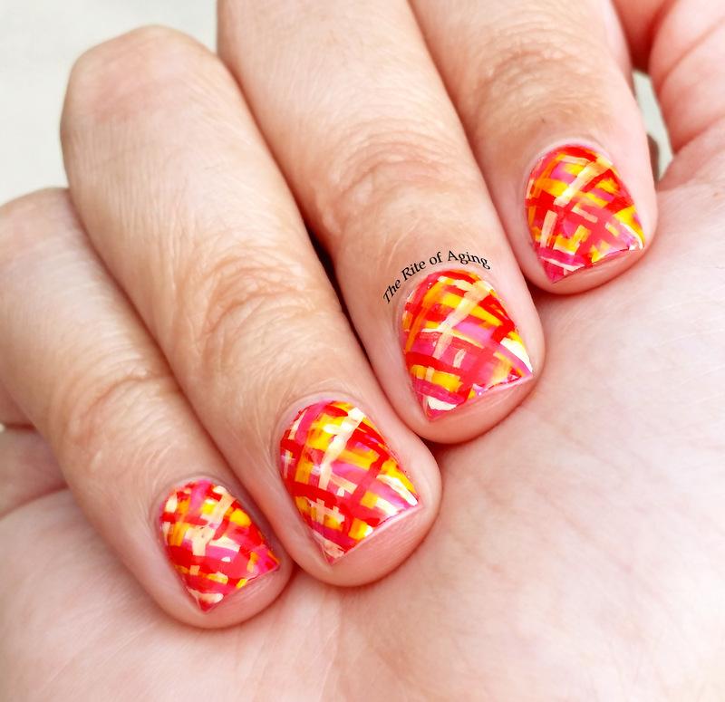 Picnic Blanket Nail Art nail art by Monica