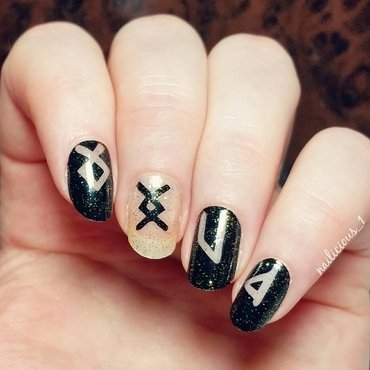 Ancient runes nail art by nailicious_1