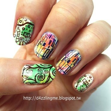 Wall of Art  nail art by D4zzling Me