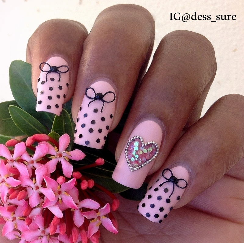 Heart of Glitter nail art by Dess_sure