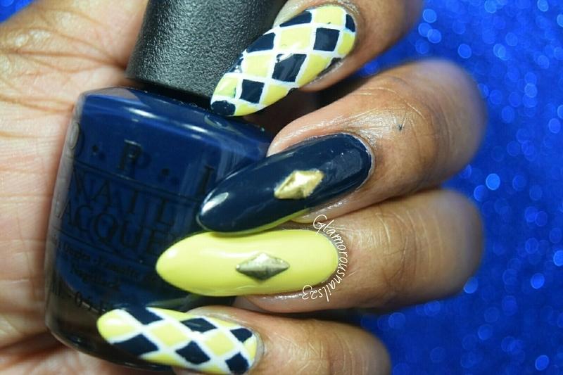Argyle Nails nail art by glamorousnails23