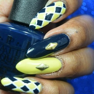 Argyle Nails nail art by glamorousnails23