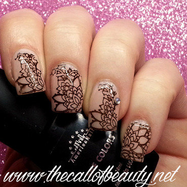 Moka Lace nail art by The Call of Beauty