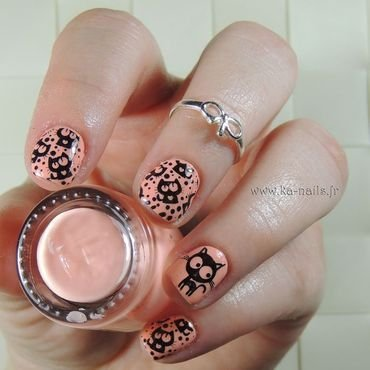 Meow nail art by Ka'Nails