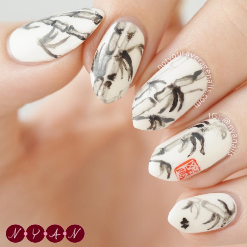 Bamboo (2) nail art by Becca (nyanails)