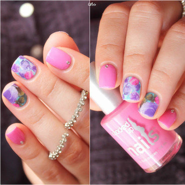 Pretty Floral Water Decals Nails nail art by Born Pretty