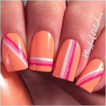 Striped Nail Art nail art by Playful Polishes
