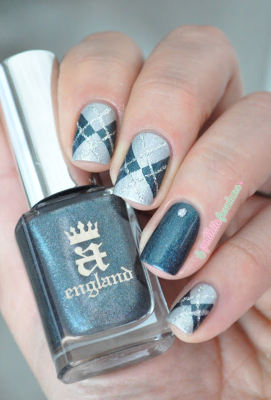 british argyle nail art by nathalie lapaillettefrondeuse