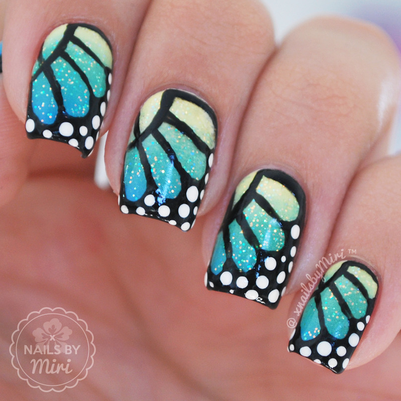 Butterfly wings nail art by xnailsbymiri nailpolis museum of butterfly wings nail art by xnailsbymiri prinsesfo Choice Image