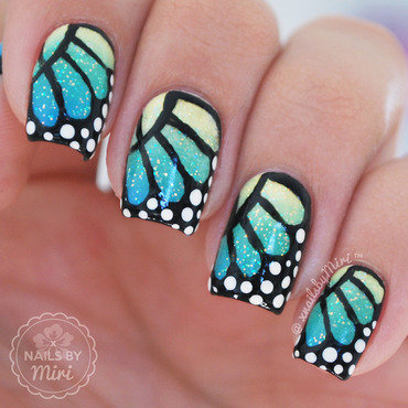 Butterfly Wings nail art by xNailsByMiri