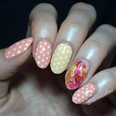 Tropical fruit salad nail art by Furious Filer