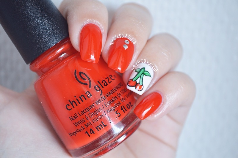 China Glaze The Heat Is On Swatch by Julia