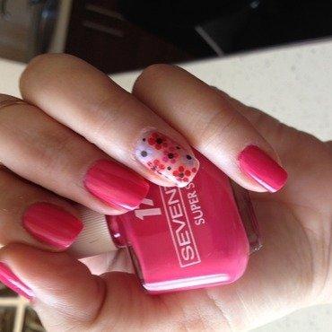 Pink power nail art by Elyana