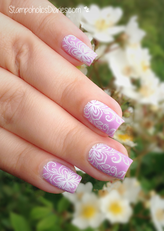 Lavender Nails nail art by Natasha