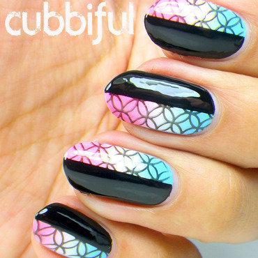 Gradient nail art stamping thumb370f