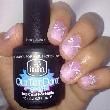 Purple to pink gradient  nail art by Massiel Pena