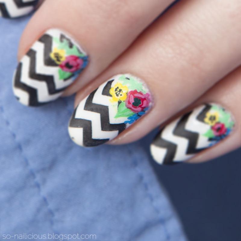 Chevron nail art by Magdalena