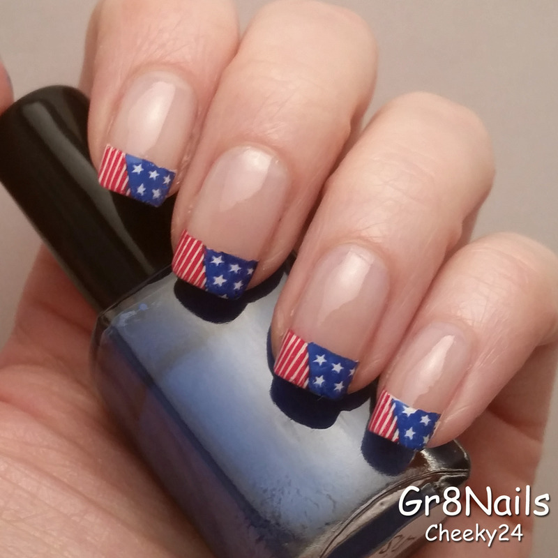 Flag Day Nails nail art by Gr8Nails