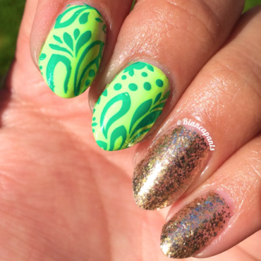 St. Patrick's Day Stamping nail art by Bianca  Pants