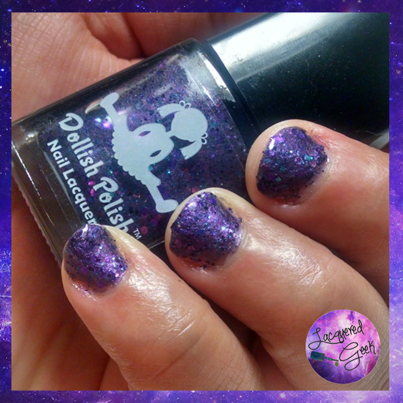 Dollish Polish Deadly Nightshade Swatch by Kim (Lacquered Geek)