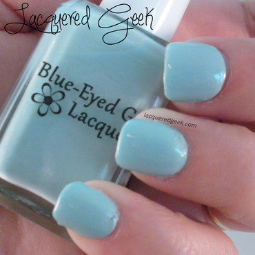 Blue-Eyed Girl Lacquer Monster's Tea at Tiffany's Swatch by Kim (Lacquered Geek)