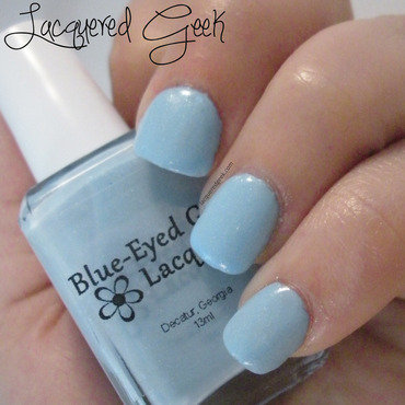 Blue-Eyed Girl Lacquer Sewing Shadows Swatch by Kim (Lacquered Geek)