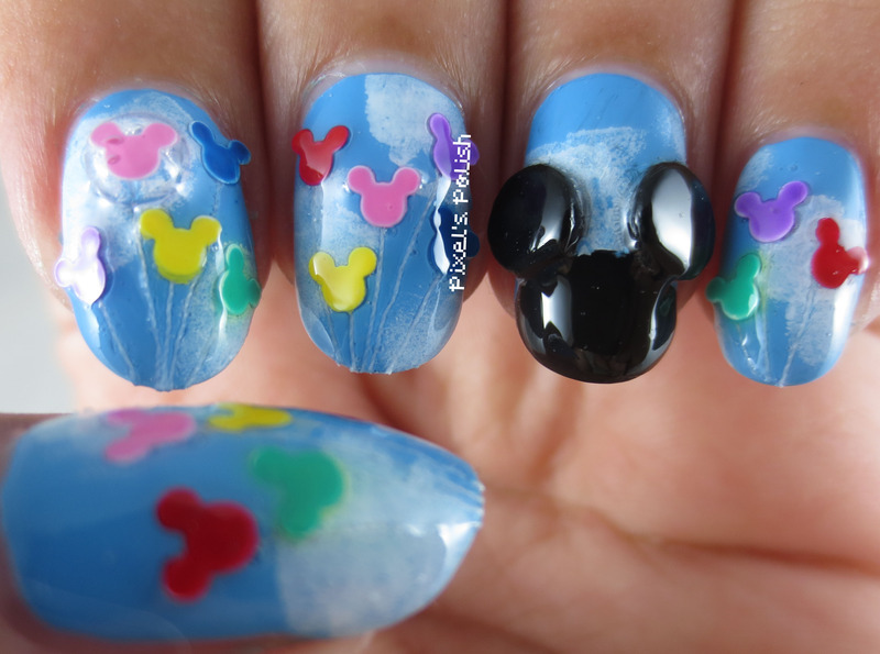 Disney Day nail art by Pixel's Polish